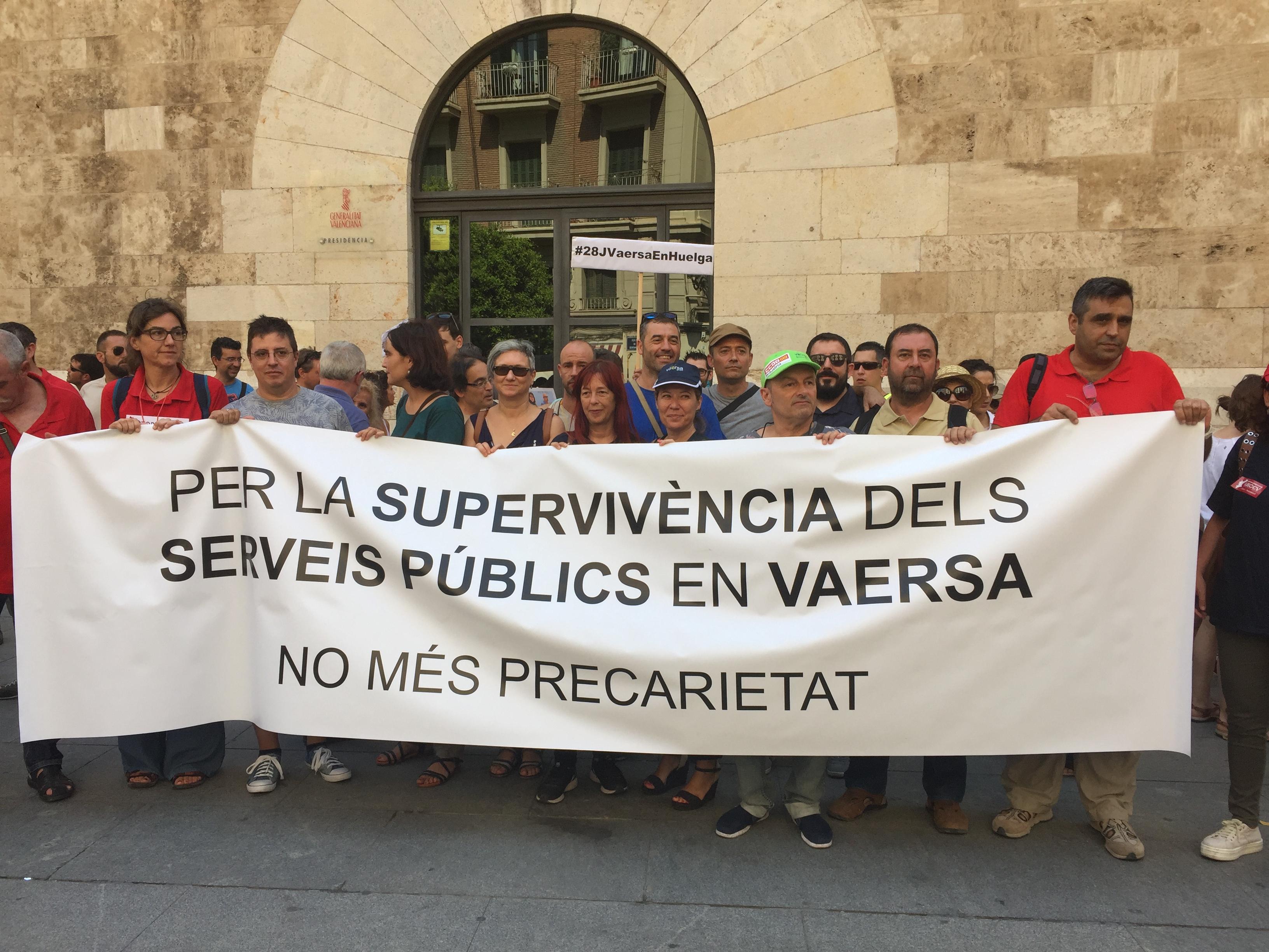 """Rodríguez: """"El Consell no pot seguir permetent les condicions precàries dels treballadors de Vaersa"""""""