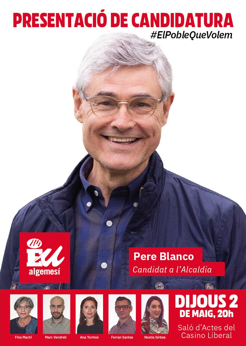 Cartell 2 de maig 2019 - Equip Pere Blanco