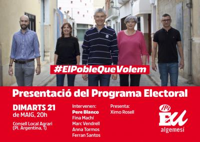 Presentació Programa Electoral Esquerra Unida Algemesí