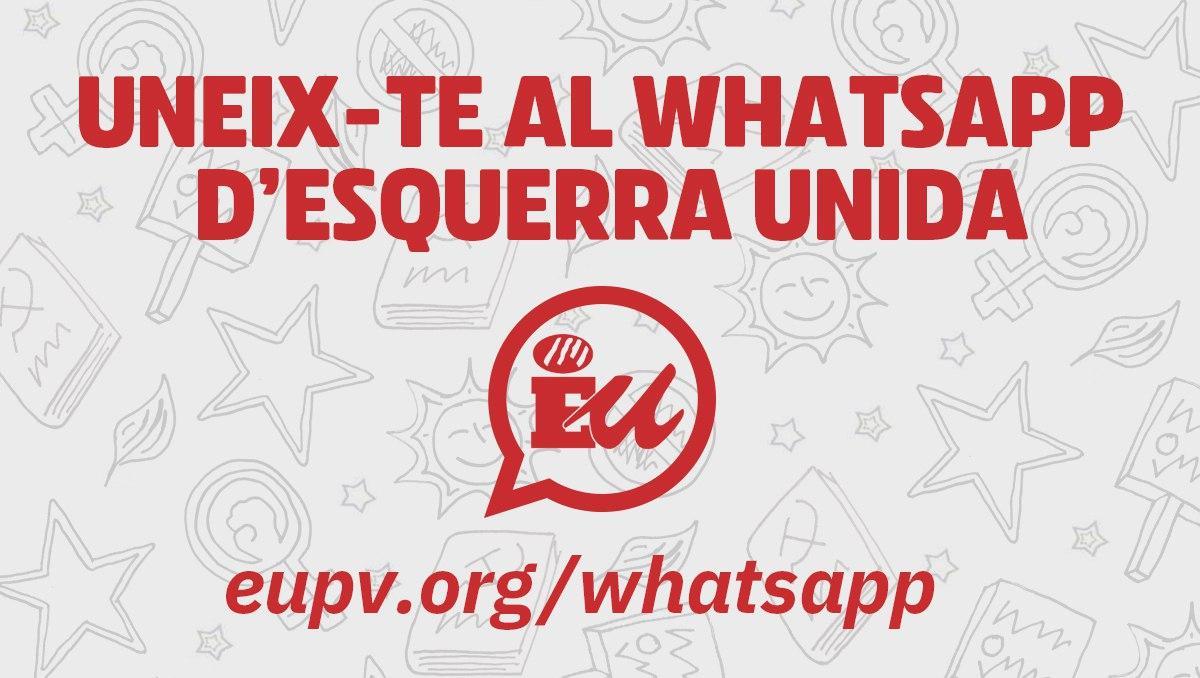 Uneix-te al WhatsApp d'Esquerra Unida