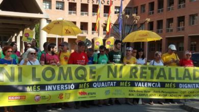 Photo of ESQUERRA UNIDA DÓNA SUPORT A LA CONCENTRACIÓ DE LA PLATAFORMA EN DEFENSA DE L'ENSENYAMENT PÚBLIC
