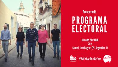 Presentació programa Esquerra Unida 2019